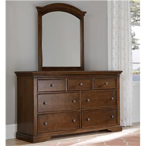 NE Kids Walnut Street Dresser and Mirror Set