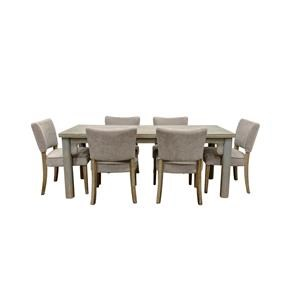 Blue Dining Table with 6 Chairs