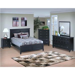 New Classic Tamarack 4 Piece Full Bedroom