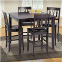 New Classic Abbie 5 Piece Table and Chairs - Item Number: 0605-012+2x020
