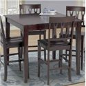 New Classic Abbie 5 Piece Table and Chairs - Table