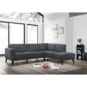 5-Seat Sectional Sofa with RAF Chaise Lounge