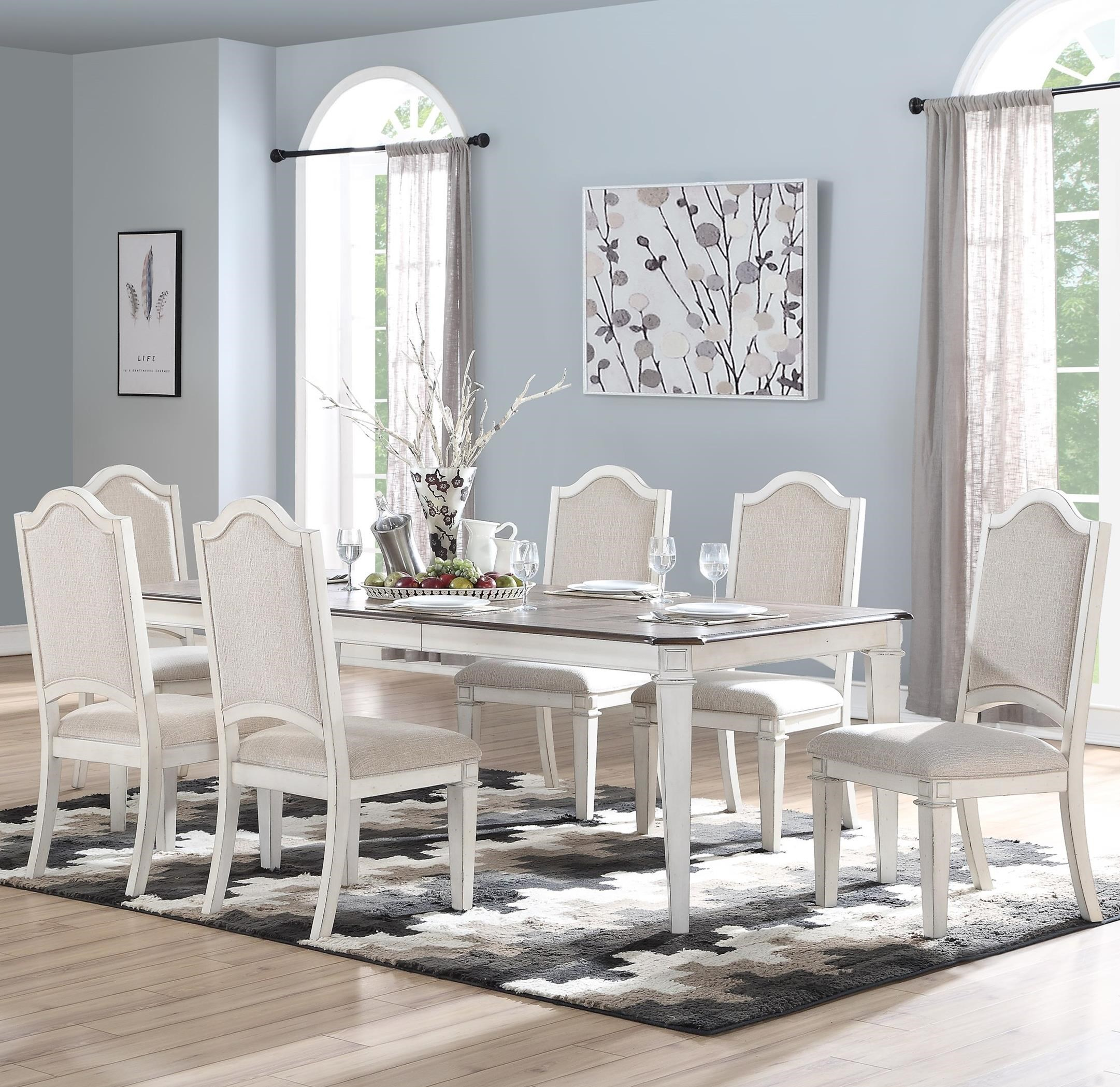 Anastasia 7-Piece Table and Chair Set by New Classic at Rife's Home Furniture
