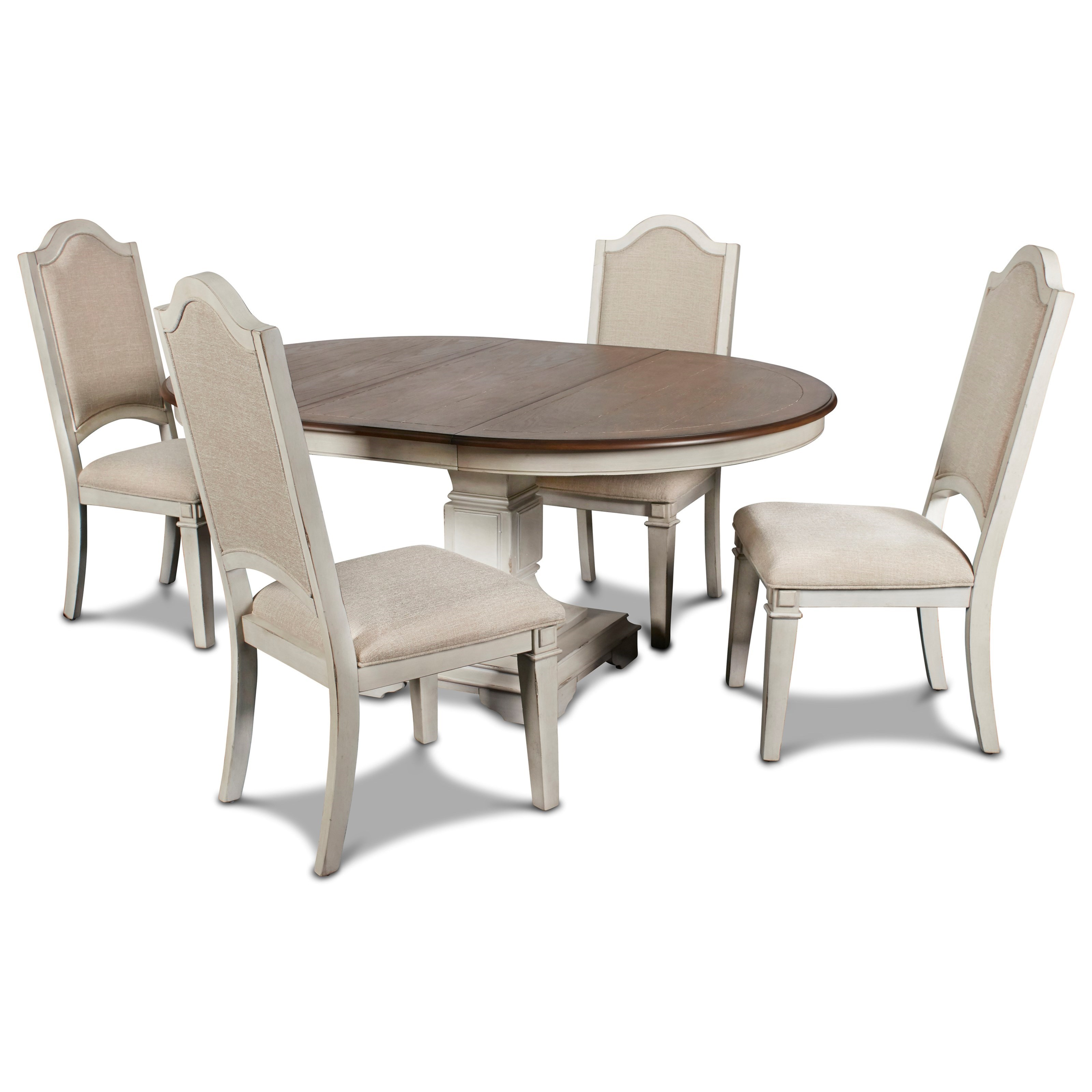 Anastasia 5-Piece Table and Chair Set by New Classic at Carolina Direct