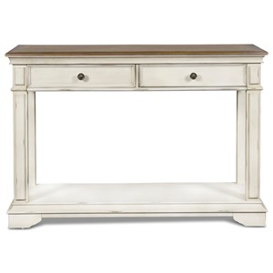 Relaxed Vintage Console Table with Two Drawers