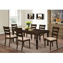 New Classic Annandale 7 Piece Dining Set - Item Number: D2560-10+6x20