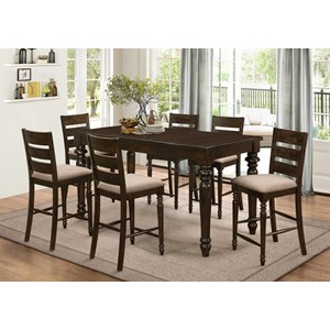 New Classic Annandale 7 Piece Counter Table Set