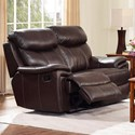 New Classic Aria Power Reclining Loveseat - Item Number: L8209-20P-BBN