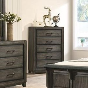 Casual 5-Drawer Chest with Felt-Lined Top Drawer