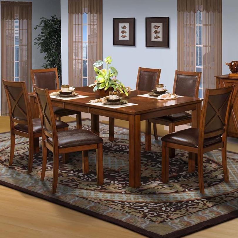 New Classic Aspen Standard Rectangle Dining Table Set - Item Number: 40-116-10+6x20