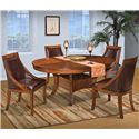 New Classic Aspen Round Dining Table Set w/ Base - Item Number: 40-116-11+11B+4x15