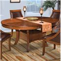 New Classic Aspen Round Dining Table w/ Base - Item Number: 40-116-11+11B
