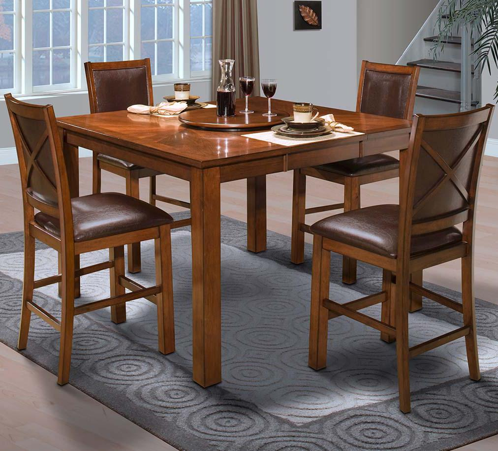 New Classic Aspen Counter Dining Table Set - Item Number: 45-116-12+4x22