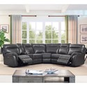 New Classic Atlas Casual 5 Seat Power Sectional with Storage Console