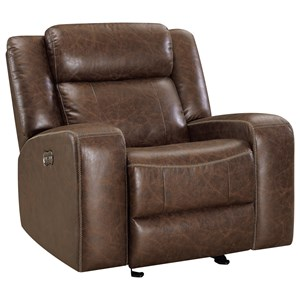 Casual Power Glider Recliner with Power Headrest and Footrest