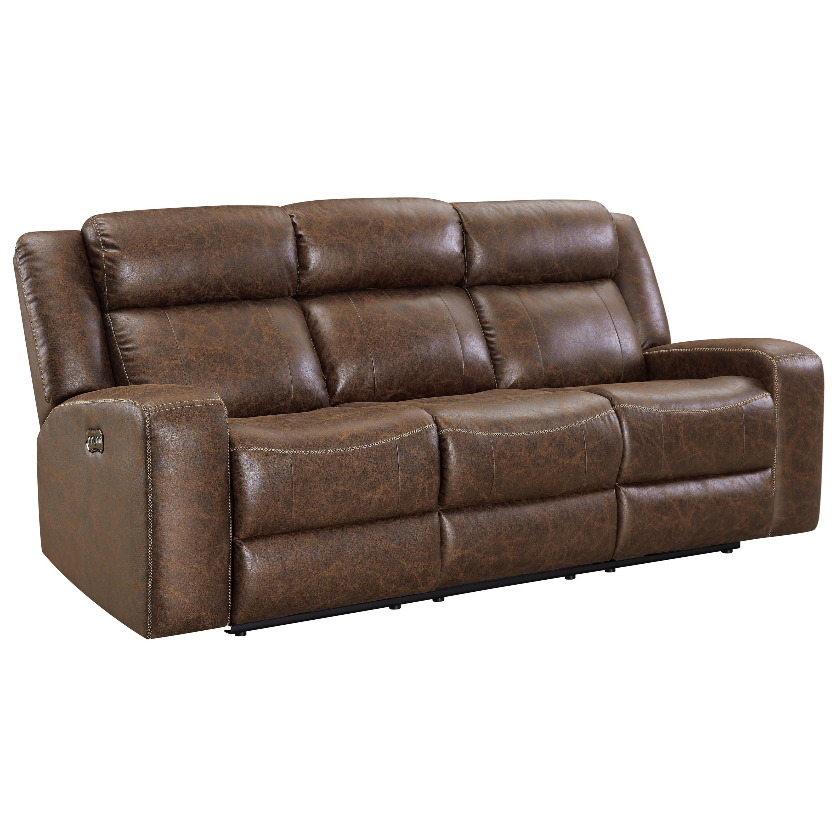 Atticus Power Dual Recliner Sofa by New Classic at Carolina Direct