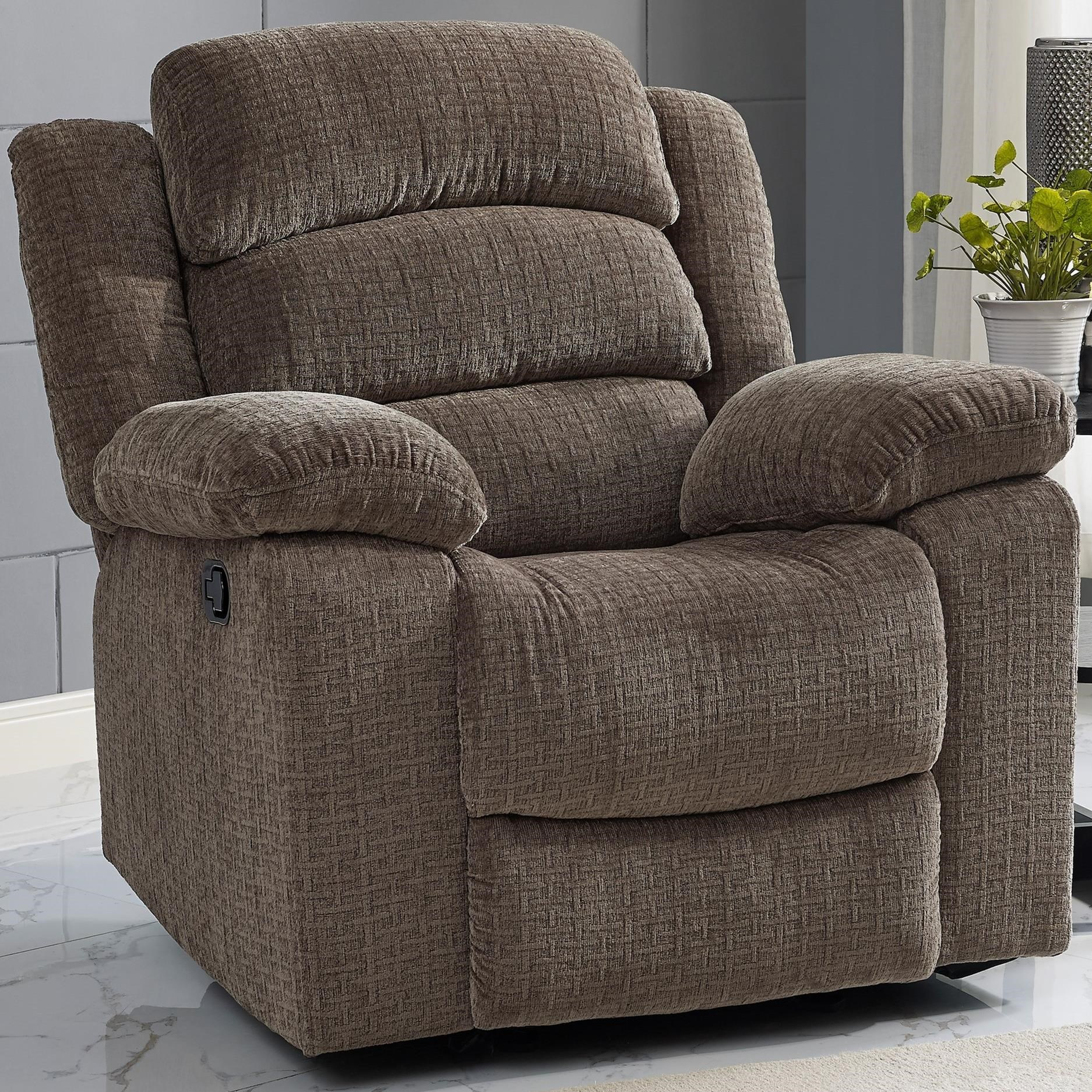 New Classic Austin Casual Glider Recliner with Bustle Back Old