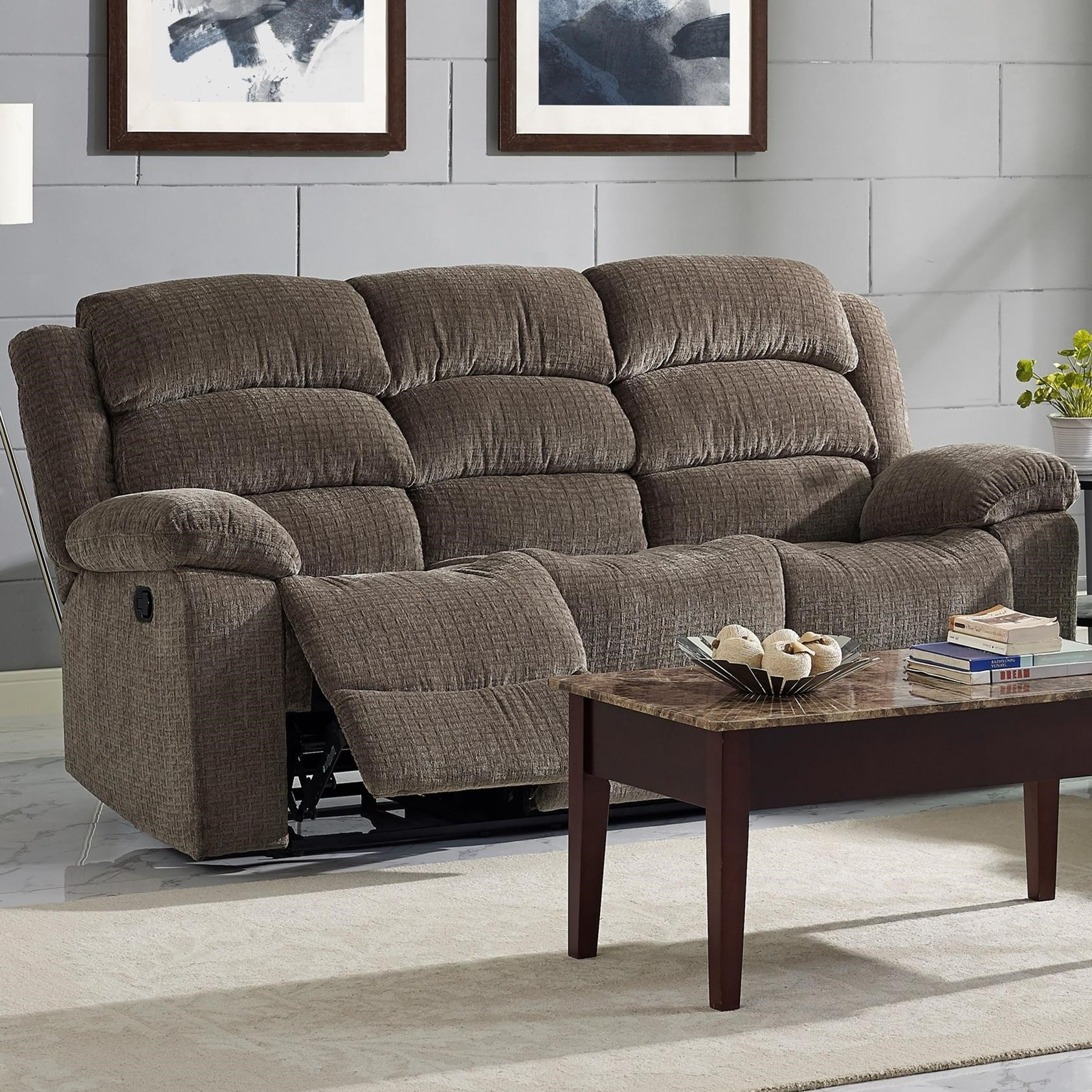 Casual Power Reclining Sofa With Power Headrests   Austin By New Classic    Wilcox Furniture   Reclining Sofas Corpus Christi, Kingsville, Calallen,  Texas