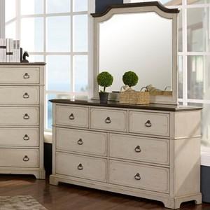 New Classic Avalon Cove Dresser and Mirror