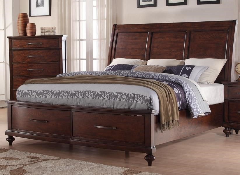 New Classic La Jolla King Storage Bed - Item Number: NEWC-GRP-B1033B-KINGBED