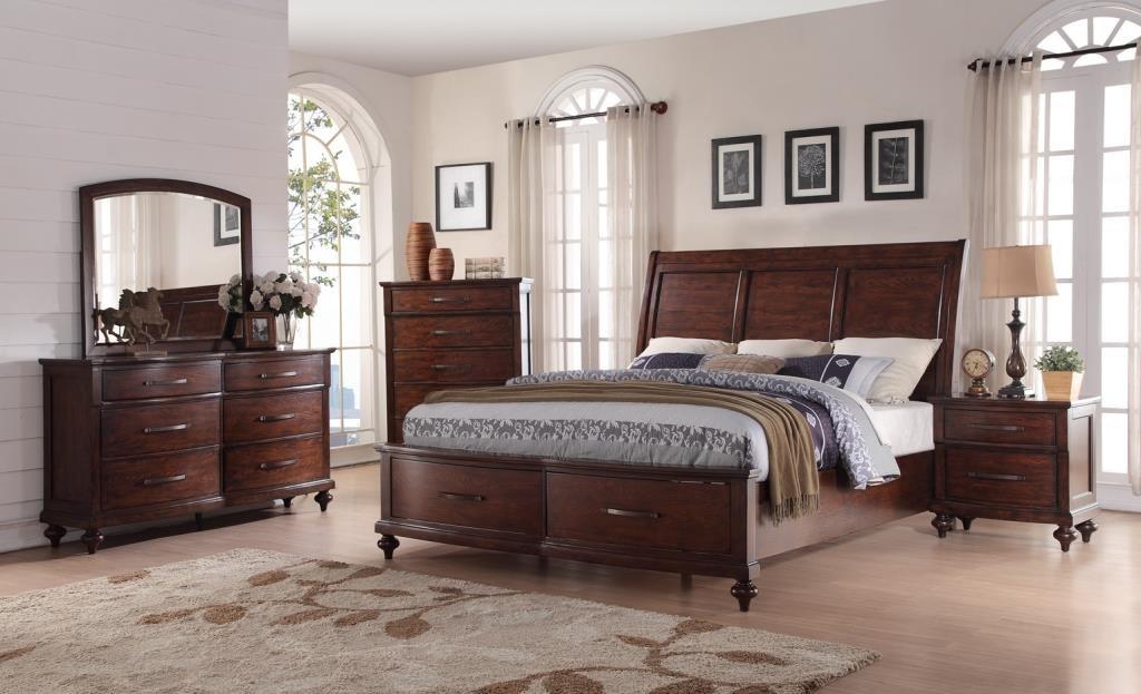 New Classic La Jolla King Storage Bed, Dresser, Mirror & Nightsta - Item Number: NEWC-GRP-B1033B-KINGSUITE