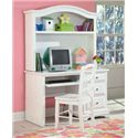 New Classic Bayfront Casual White Ladder Back Student Chair - Shown with Student Desk and Hutch