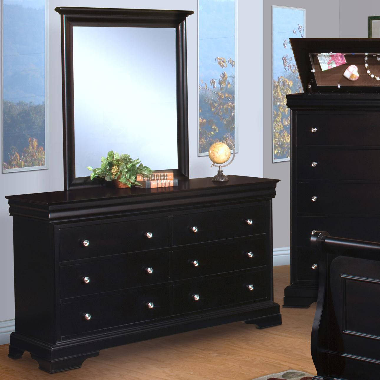 New Classic Belle Rose Youth Dresser and Mirror - Item Number: 00-013-052+063