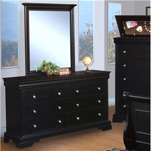 New Classic Belle Rose Youth Dresser and Mirror