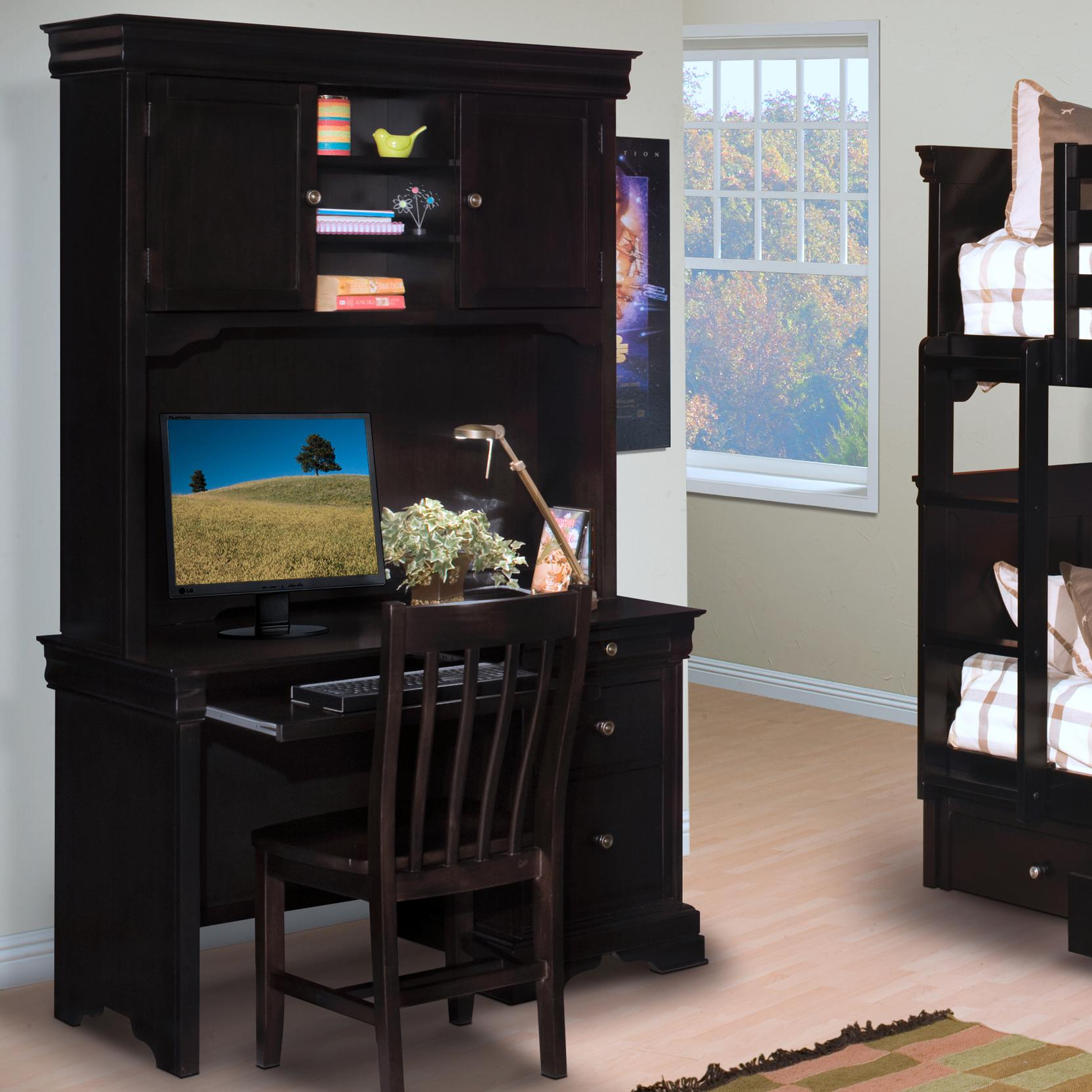 New Classic Belle Rose Youth Desk and Hutch - Item Number: 00-013-091+092