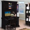 New Classic Belle Rose Youth Single Pedestal Desk - Shown with Hutch and Chair