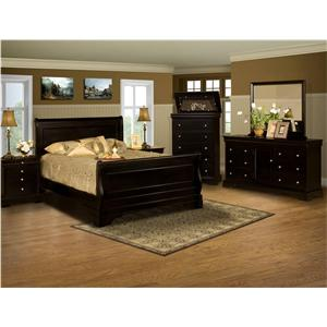 New Classic Belle Rose 4 Piece Bedroom Group
