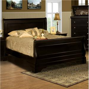 New Classic Belle Rose King Sleigh Bed