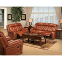 New Classic Benedict Casual Power Reclining Loveseat with Pillow Arms