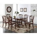 New Classic Bixby 7 Piece Dining Table Set - Item Number: D2541-10+6x20