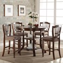 New Classic Bixby 5 Piece Round Counter Table Set - Item Number: D2541-12+4x22