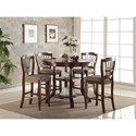 New Classic Bixby Dining Counter Chair with Wheat Back and Upholstered Seat