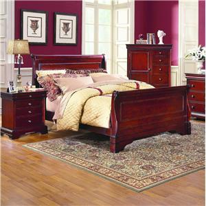 New Classic Versaille Queen Sleigh Bed