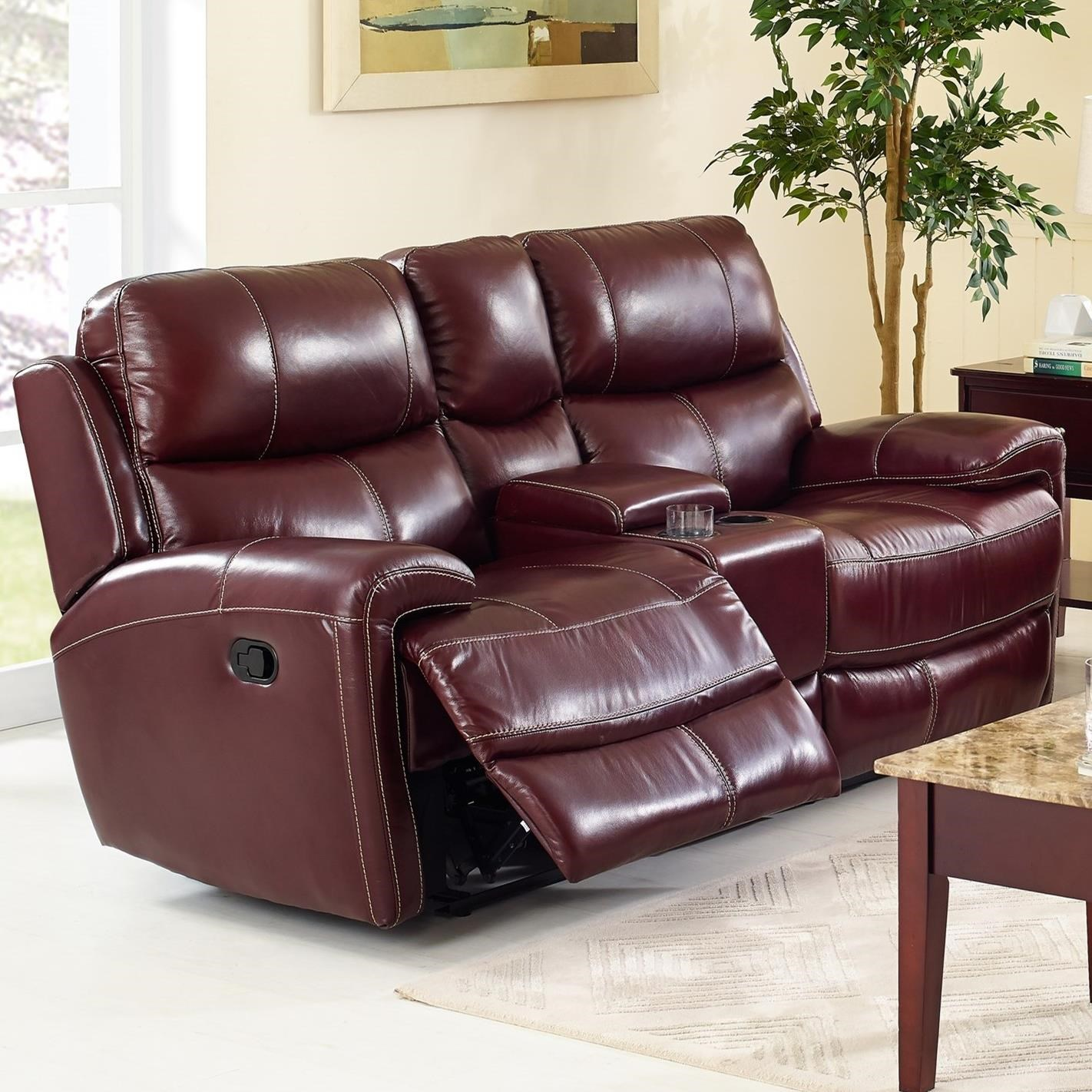 New Classic Boulevard L2233 25p Brg Power Reclining Console Loveseat