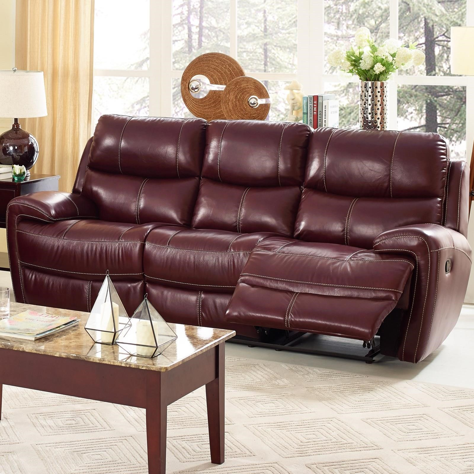 New Classic Boulevard L2233 32p Brg Casual Power Reclining Sofa With