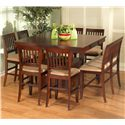 New Classic Brendan Storage Pub Table - Shown with Counter Chairs and Bench