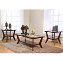 New Classic Bryant Cocktail Table and 2 End Tables Occasional Group