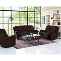 New Classic Cabot Casual Reclining Loveseat with Full Chaise Cushions