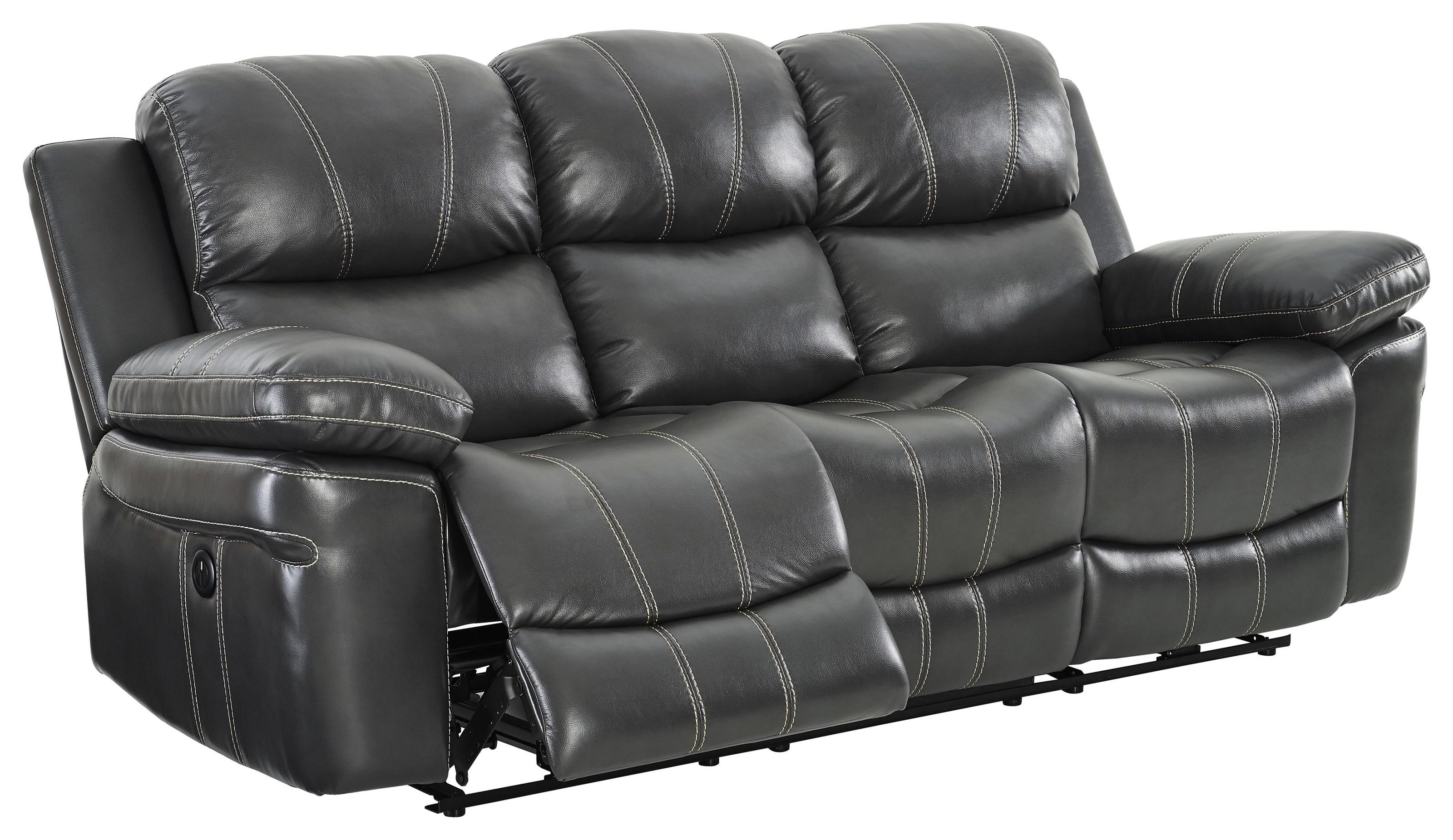 Power Dual Reclining Sofa With USB Port