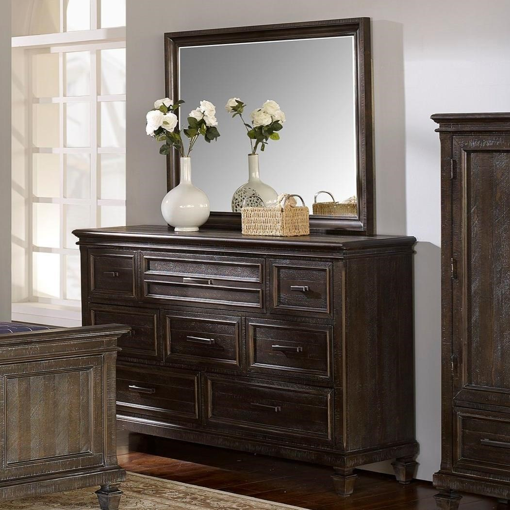 New Classic Cadiz Bedroom Dresser and Mirror - Item Number: 00-821-050+060