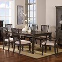 New Classic Cadiz Dining 7 Piece Table and Chair Set - Item Number: 40-821-10+20x4+21x2