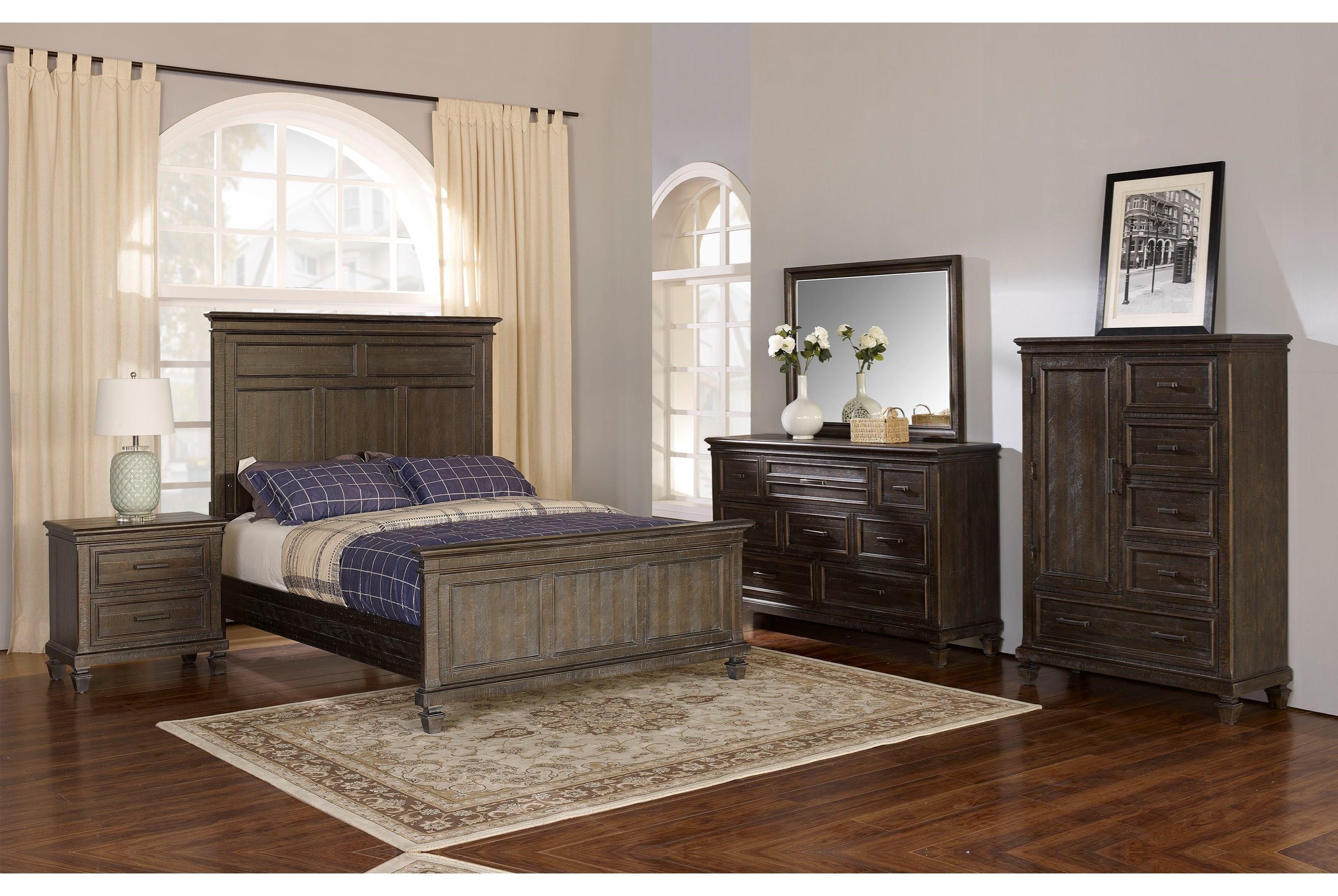 New Classic Cadiz Bedroom Queen Bedroom Group - Item Number: GRP-821-CADIZ-QNSUITE