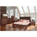 New Classic Cora 4-Piece King Bedroom Set - Item Number: B18594-K4PC