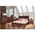 New Classic Cora 4-Piece Queen Bedroom Set - Item Number: B18594-Q4PC