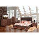 New Classic Cagney California King Bedroom Group - Item Number: B594 CK Bedroom Group 2