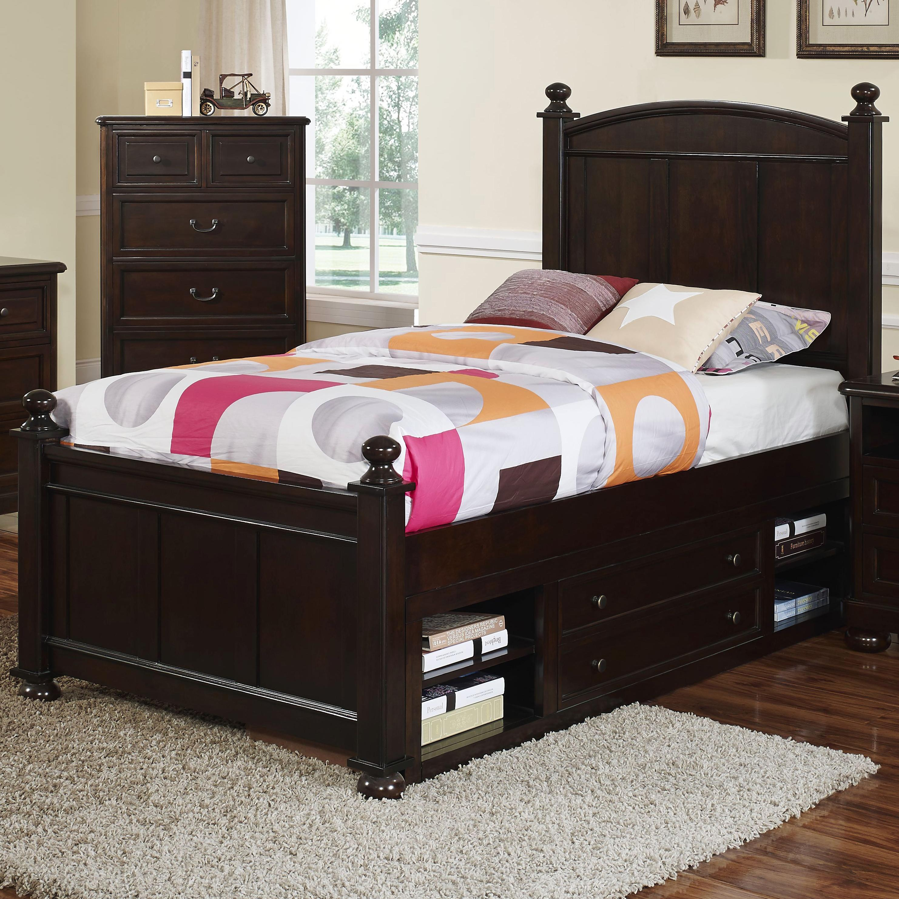 New Classic Canyon Ridge Twin Panel Bed with Storage - Item Number: 05-230-510+520+530+598